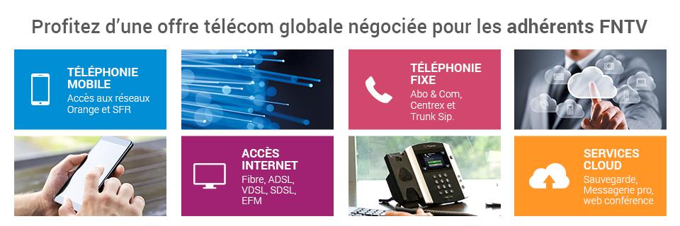 Profitez d'une offre télécom globale négociée pour les adhérents FNTV